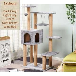 🚚 x2 sets of Cat Condo Tree with swing, Scratch Post pole, NOT cage carrier pet food