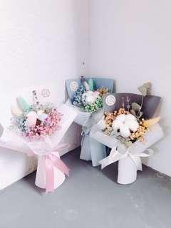 Mini Cotton Flower Bouquet: Cherish