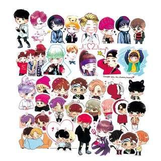 🚚 20pcs BTS Cartoon PVC Matte Stickers