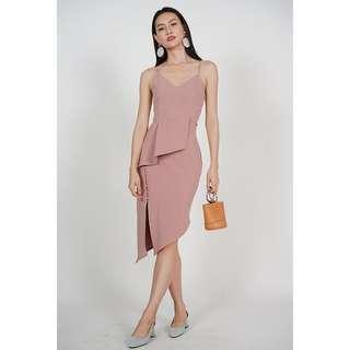 BNWT MDS rose peplum dress
