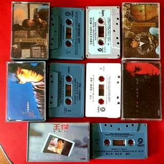 Vintage Dave Wong or 王杰 Cassette Tapes, 5pcs for $40. WhatsApp 96337309.