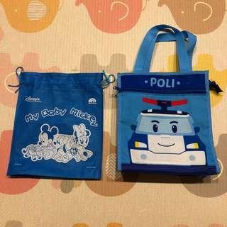 🚚 Poli 波力提袋 和 Disney 束口袋