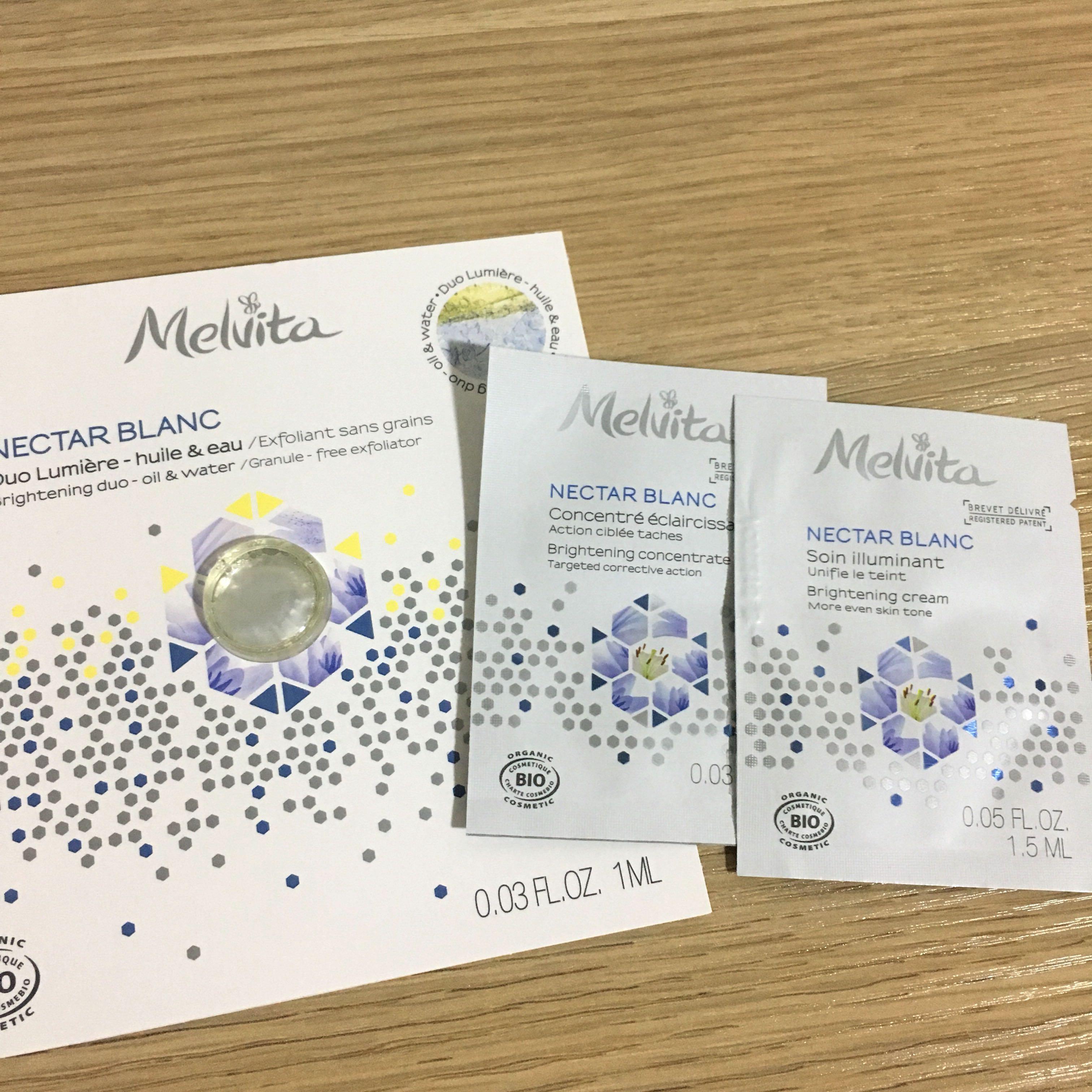 🌟 Melvita 有機透白光感美容液、精華、面霜 sample