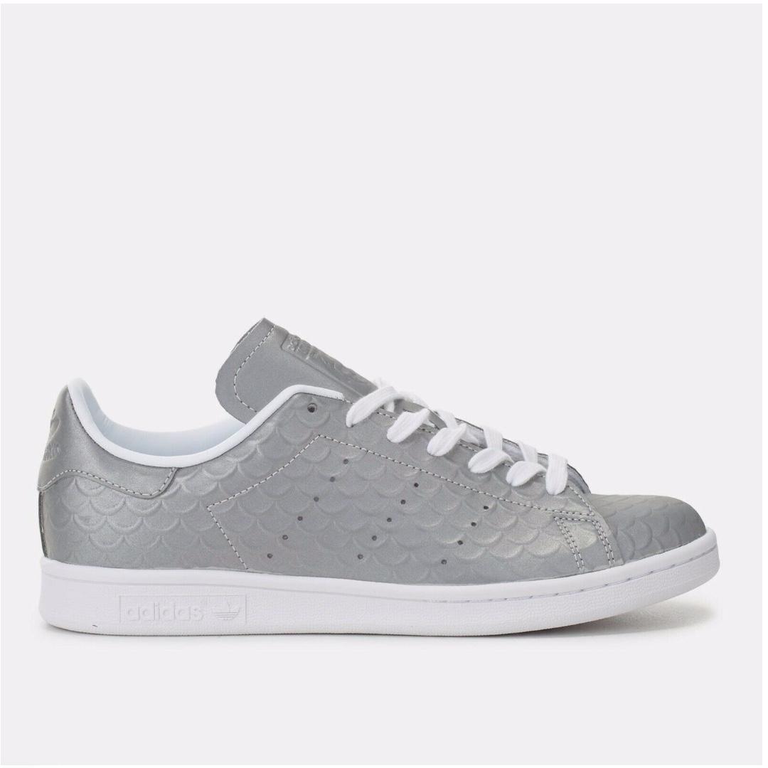 Adidas Originals Silver Stan Smith Trainers Size 7.5 AUS