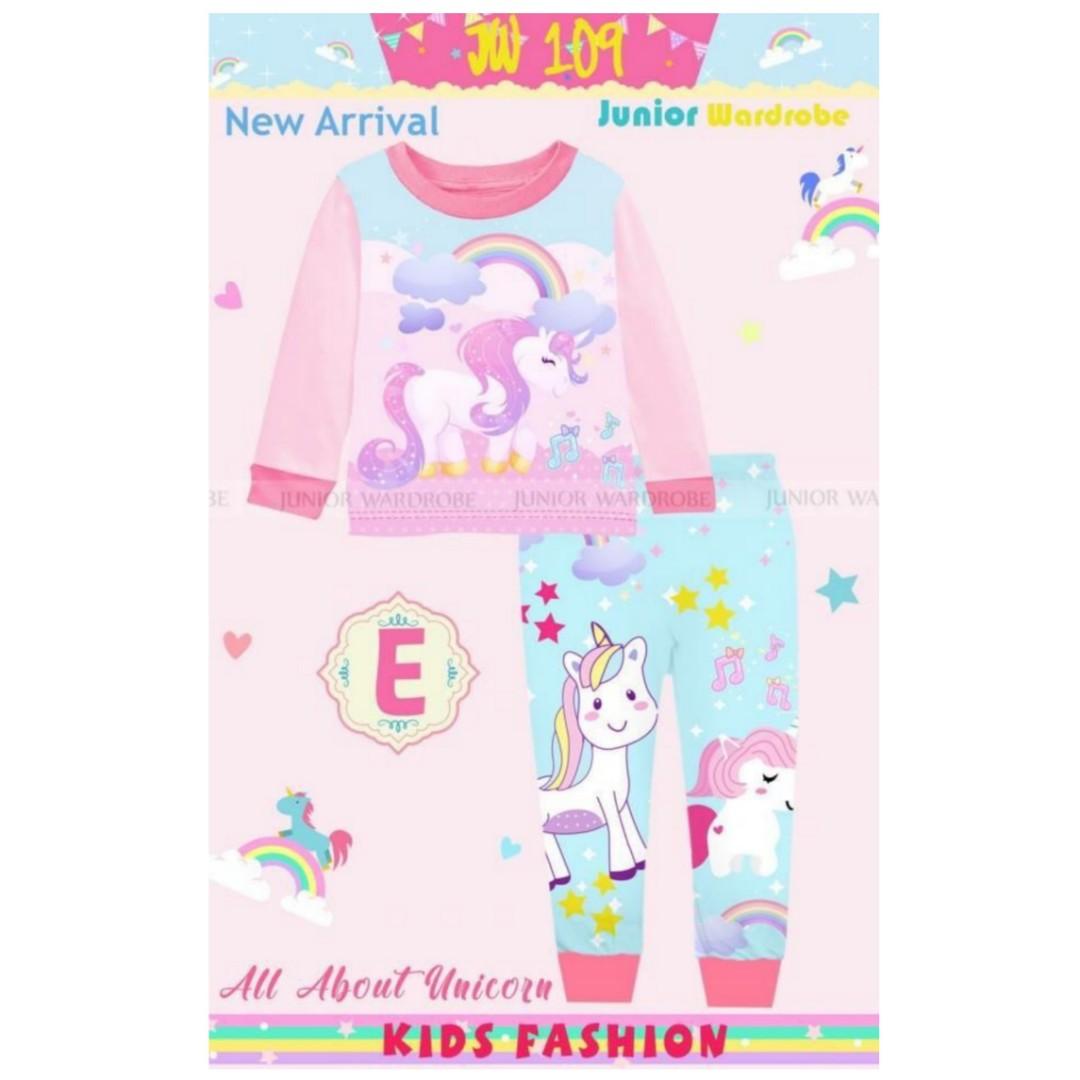 baju piyama unicorn jw anak import babies kids girls