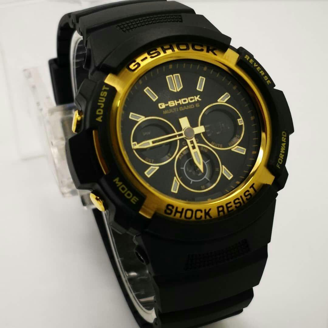 BRAND:  G SHOCK AWG- M100  DESCRIPTION: UNISEX WATCH  GRED 1 :1 AUTOLIGHT FUNCTION DAY-DATE WORLD TIME ALARM STOPWATCH TIMER   FULLSET WITH BOX &