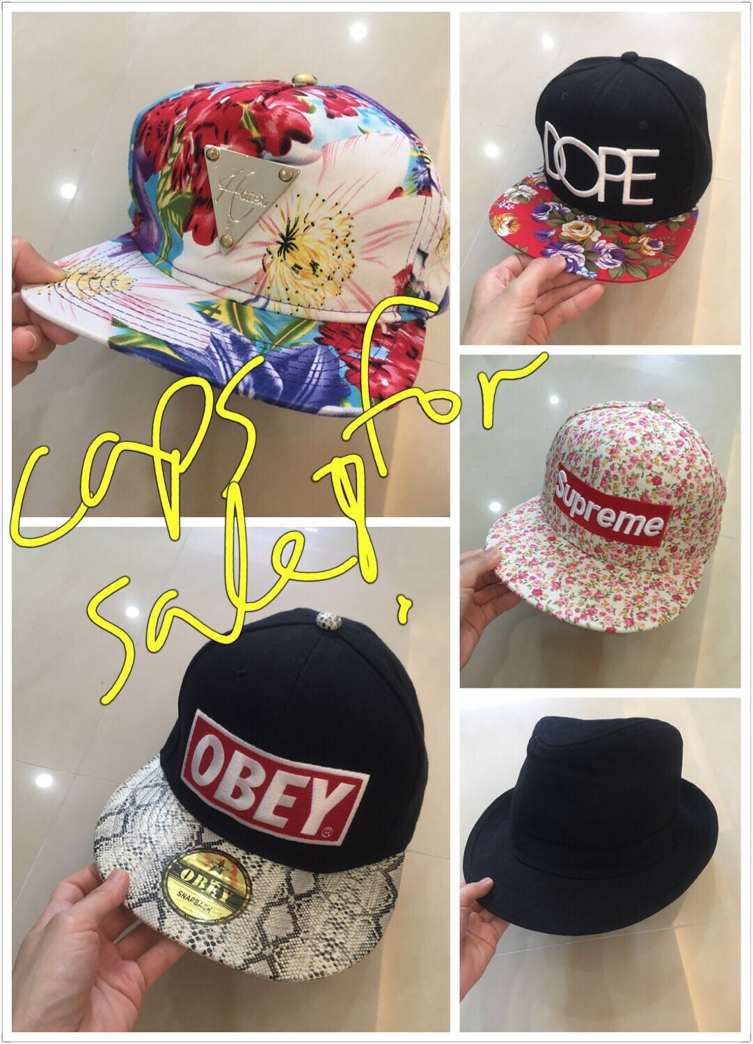 51fe06072 Brand new Assorted Supreme, Dope, Obey, Hater snapbacks and fedora hat for  sale