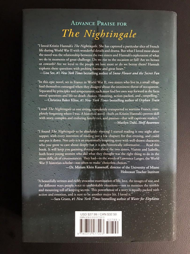 BRAND NEW NOVEL (hardcover) The Nightingale by Kristin Hannah