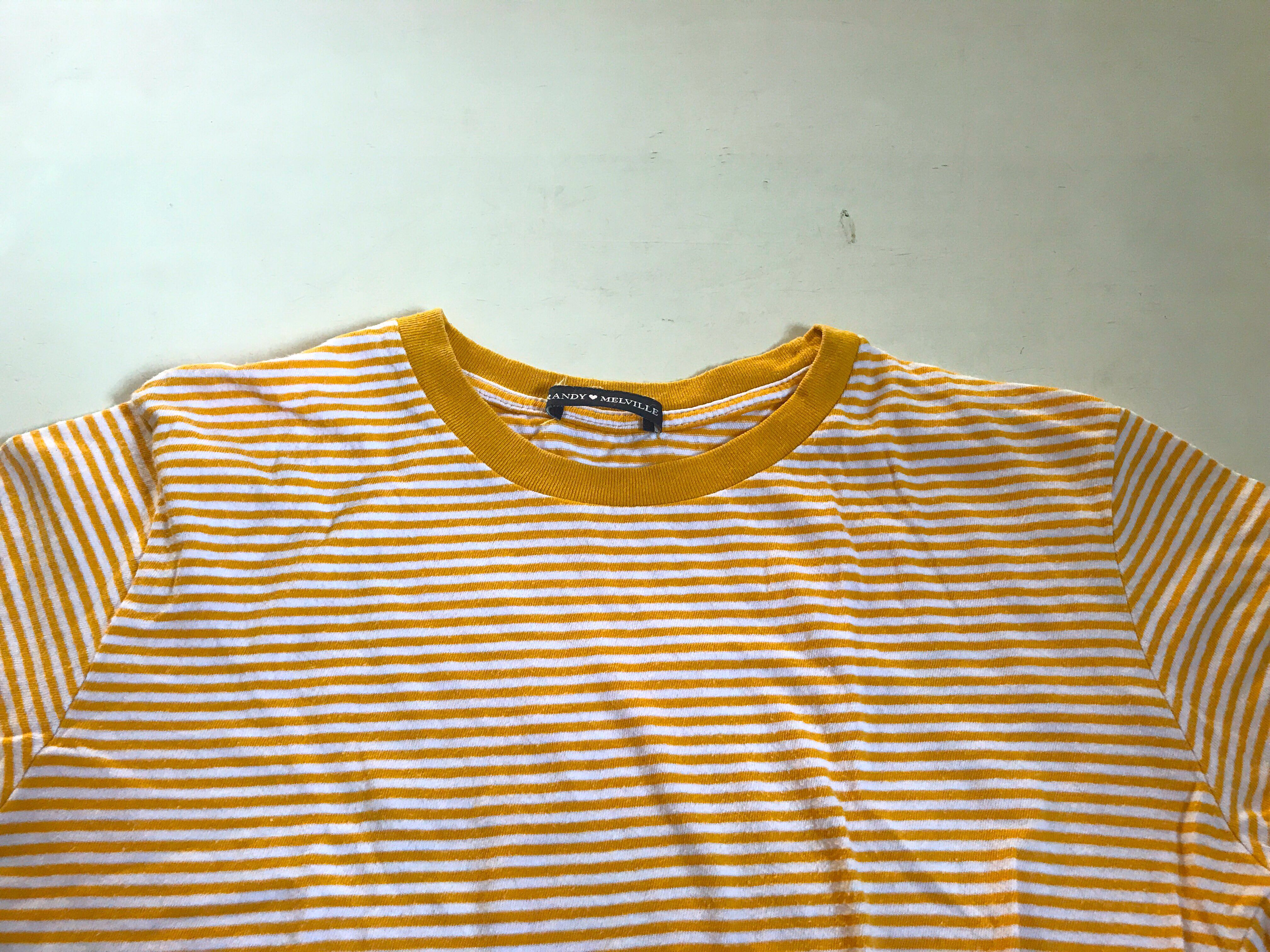 69538ee35d brandy melville yellow striped top, Women's Fashion, Clothes, Tops ...
