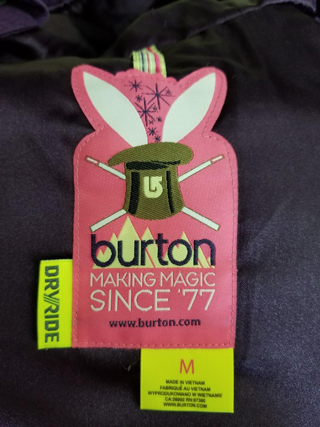 Burton female snow jacket size M 女裝中碼滑雪褸
