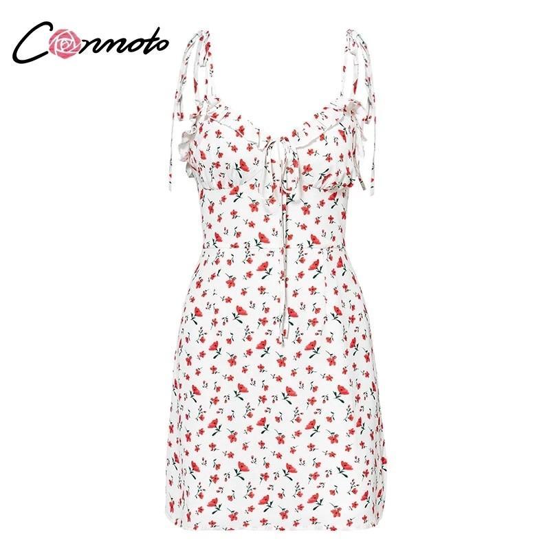 Casual floral print short dress