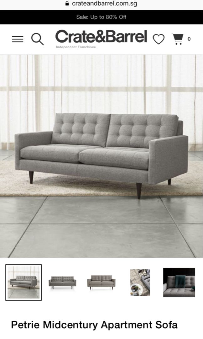 Peachy Crate And Barrel Petrie Sofa Furniture Sofas On Carousell Pabps2019 Chair Design Images Pabps2019Com