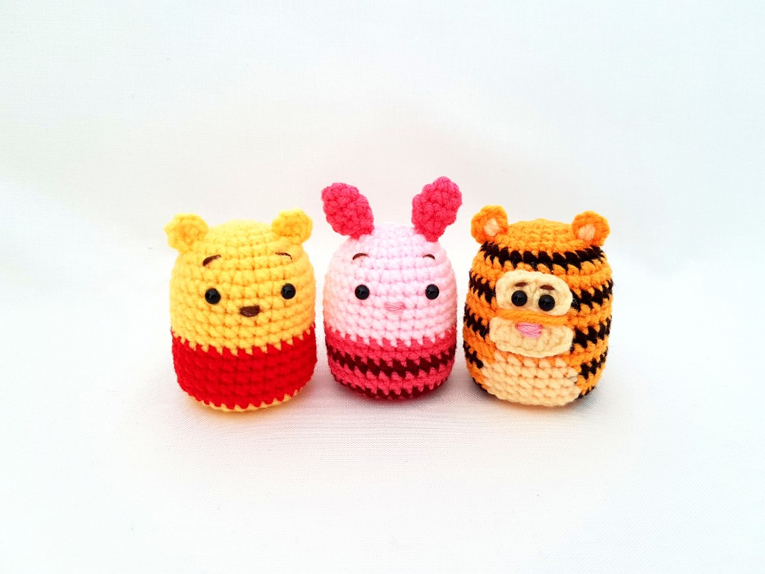 Winnie The Poohpiglettigger Tsum Tsum Crochet Doll Design Craft