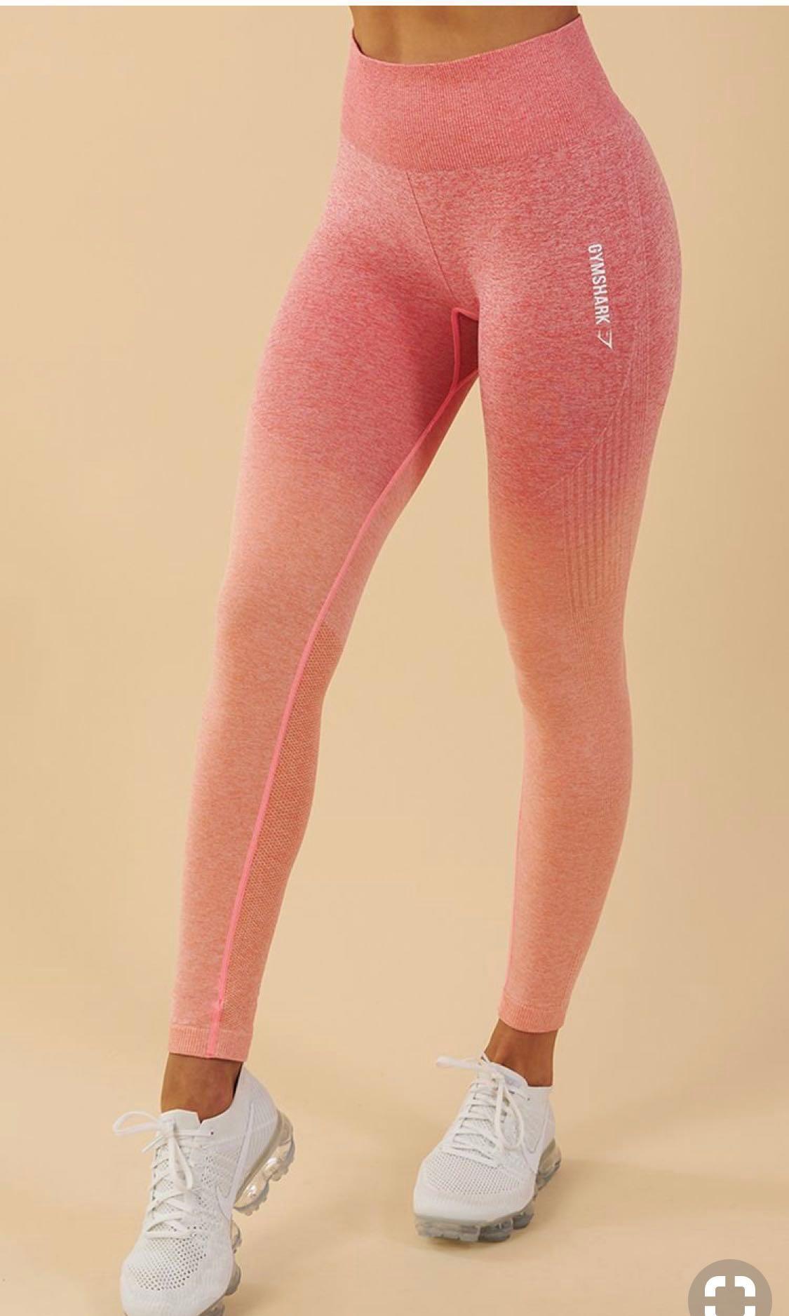 c1f1bc0707c070 Gymshark Ombré Seamless Leggings - Peach Coral, Sports, Sports ...
