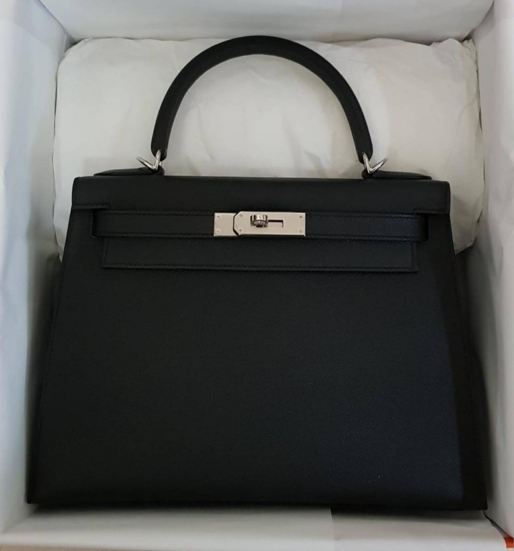 74a67add301c Hermes Kelly 28 - Black