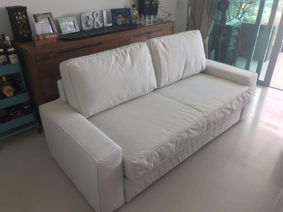 Ikea Kivik Sofa Bed Cream Furniture Sofas On Carousell