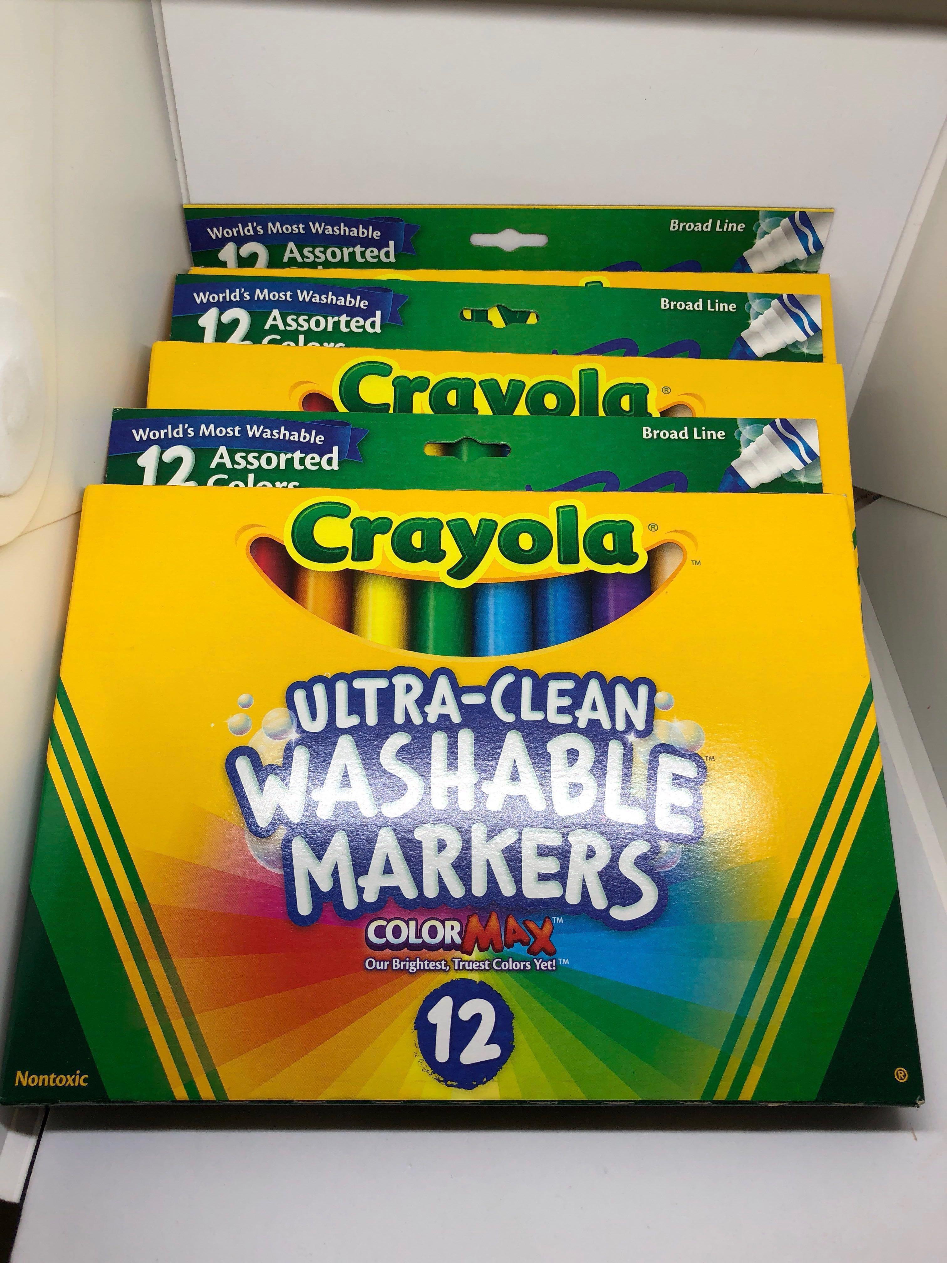 Instock! Brand New Crayola Non Toxic Washable Markers