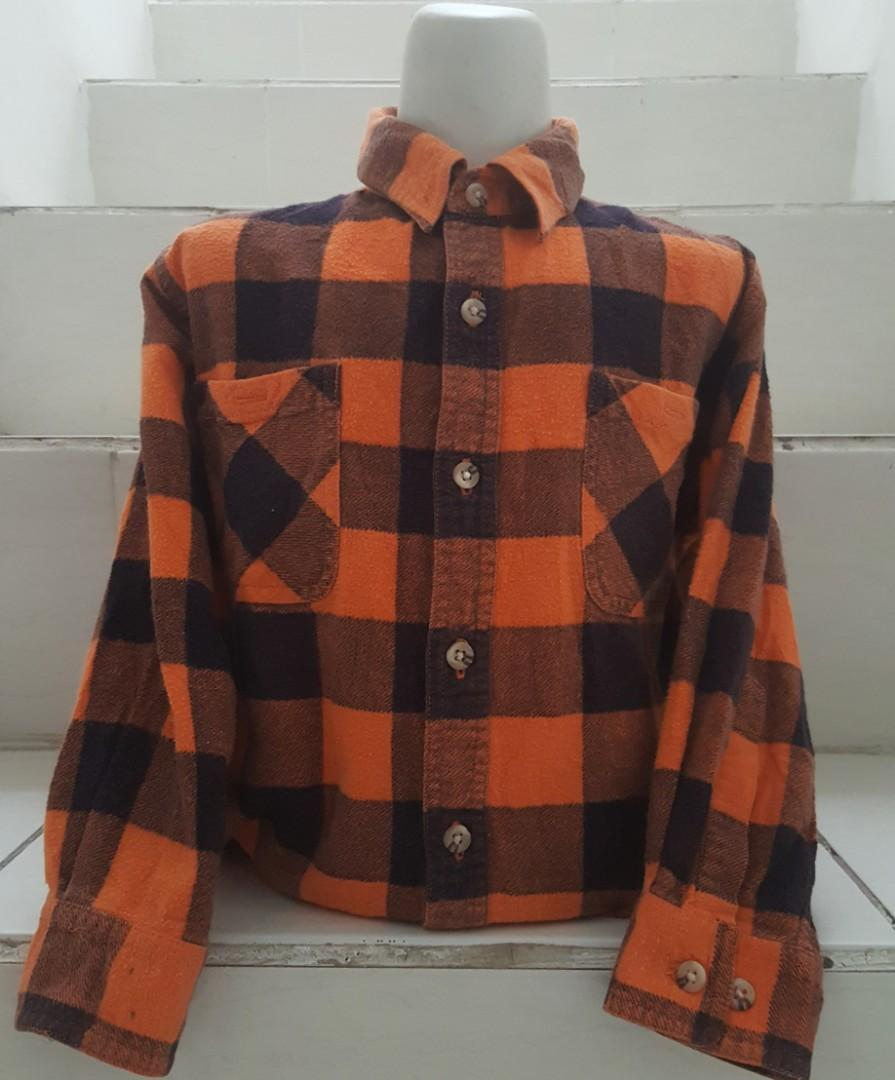 Kemeja flannel anak import Auth yes kids
