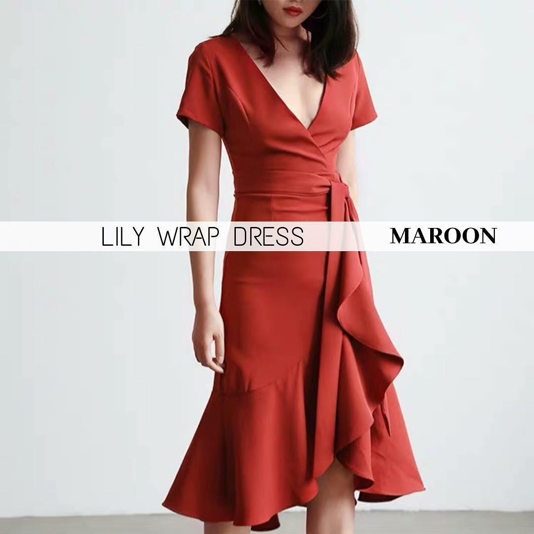 LILY WRAP DRESS (new)