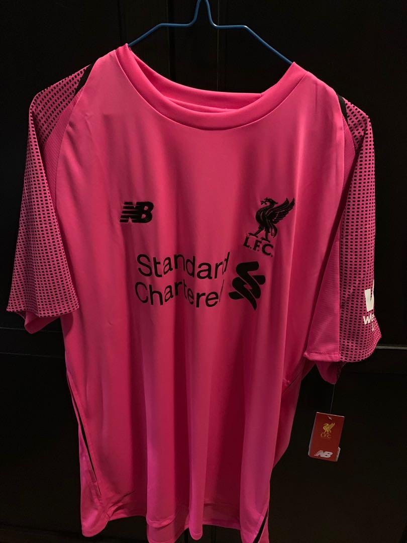 buy popular 29427 564a5 Liverpool 18/19 goalkeeper third kit pink UK XL 利物浦粉龍