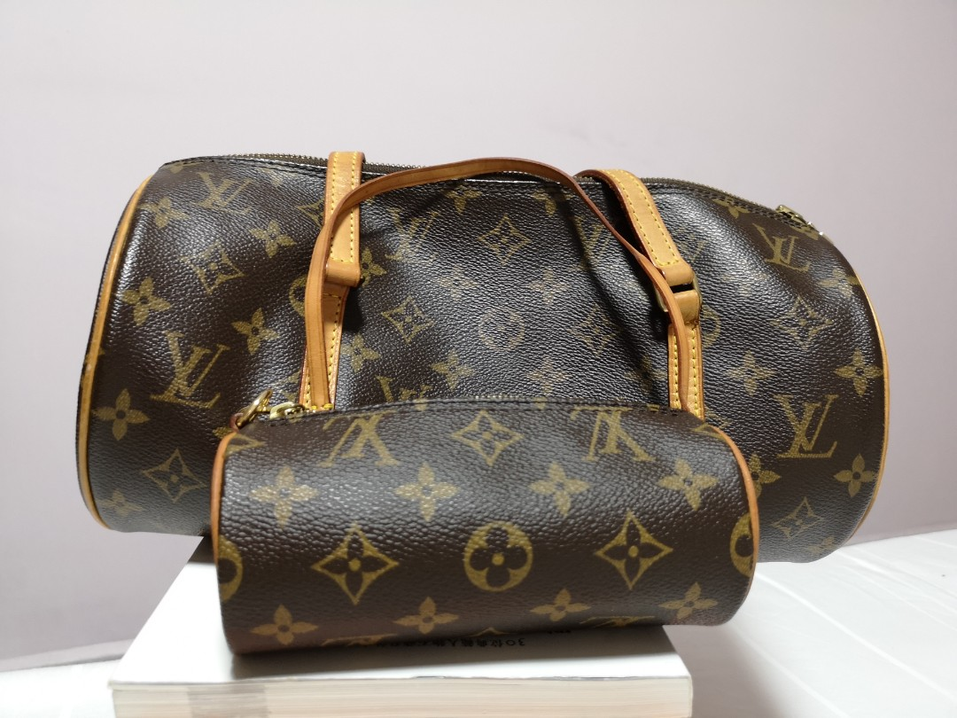 7322b97c9b3f Louis Vuitton Papillion NM Monogram Bag with mini papillon bag ...