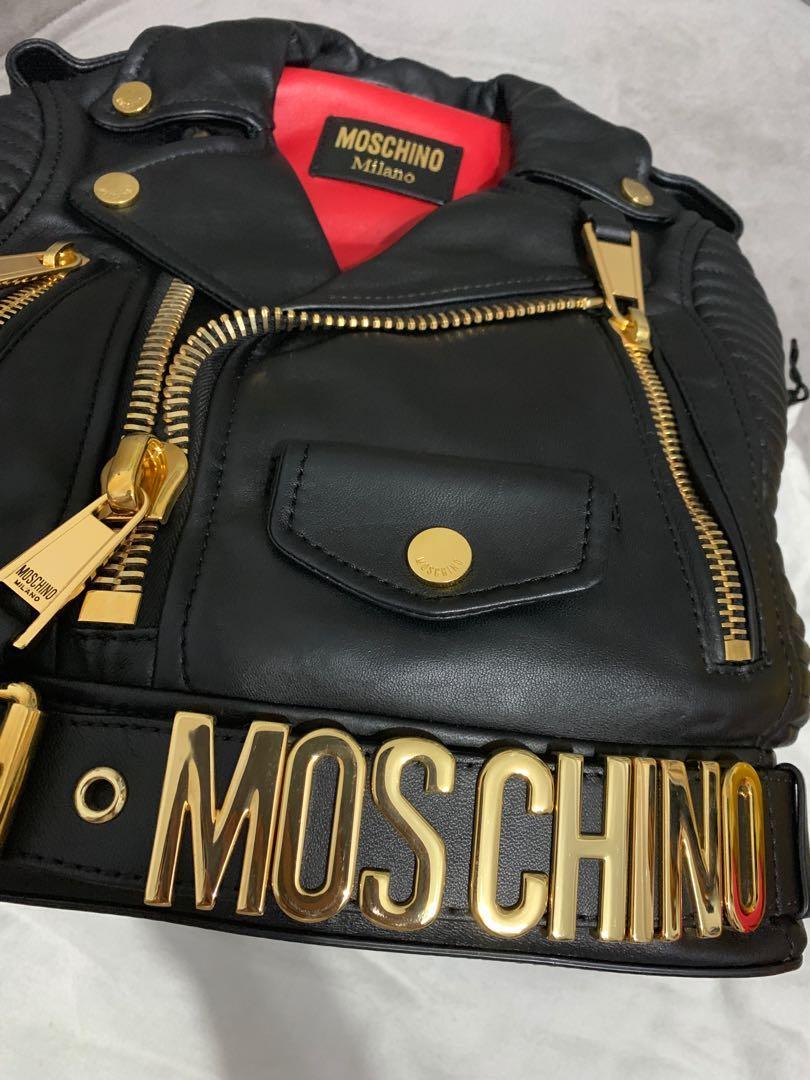 全新絕版Moschino 皮衣包