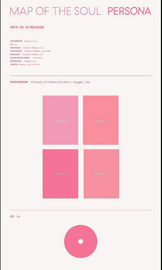 [PO + giveaway] BTS Map Of The Soul : PERSONA