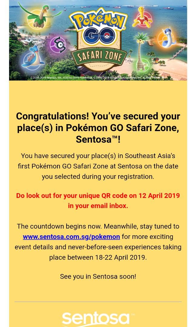 Pokemon GO Safari Zone Sentosa, Entertainment, Events