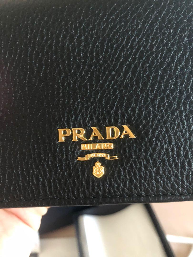 Prada mini wallet