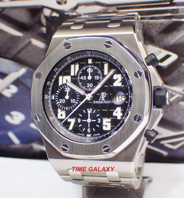 Preowned AUDEMARS PIGUET Royal Oak Offshore 42mm Chronograph Automatic Stainless Steel Bracelet watch. Model 25721ST.