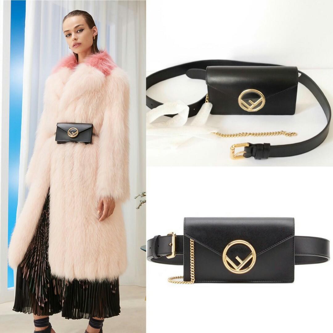 READY Fendi Belt Bag / Sling Bag • Black ( bisa sling & belt bag dapat 2 tali )