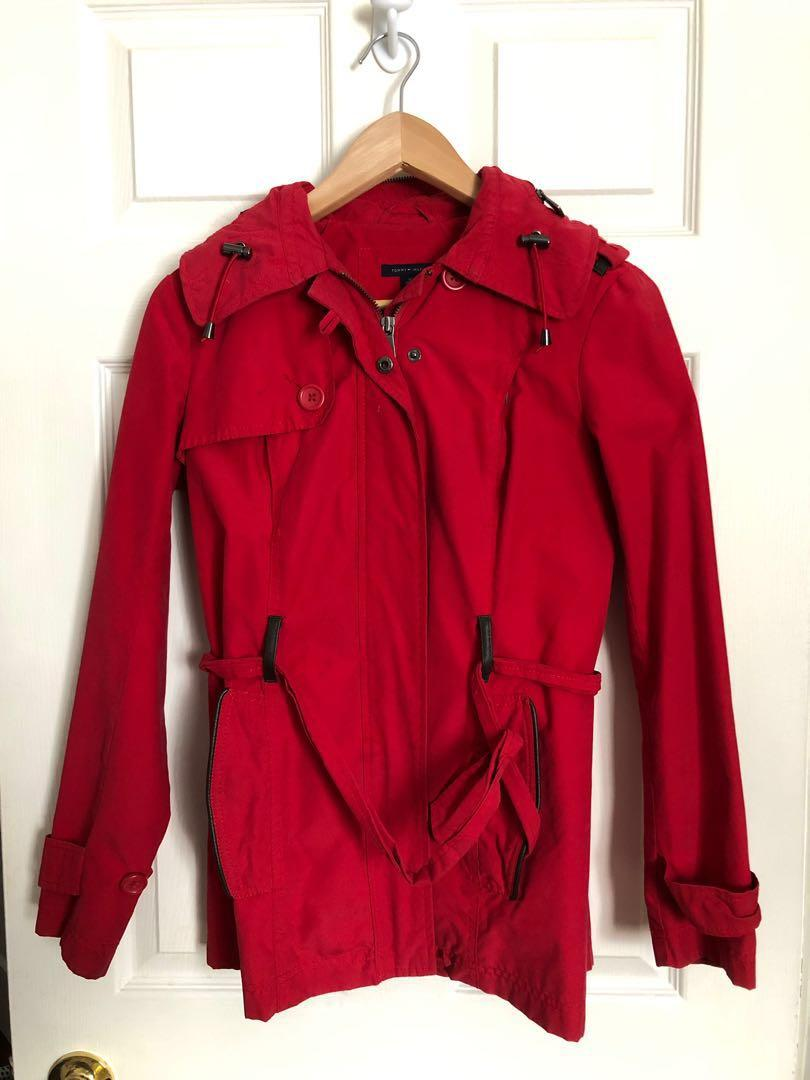 Red Tommy Hilfiger Coat