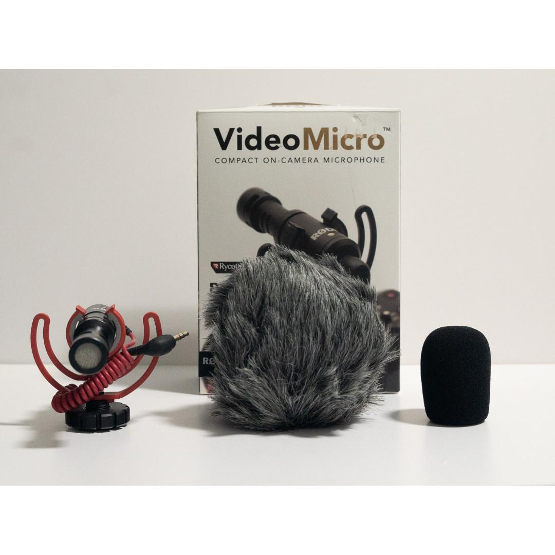 Rode Video Micro Compact On-Camera Microphone  (Good for Vlog & Video)