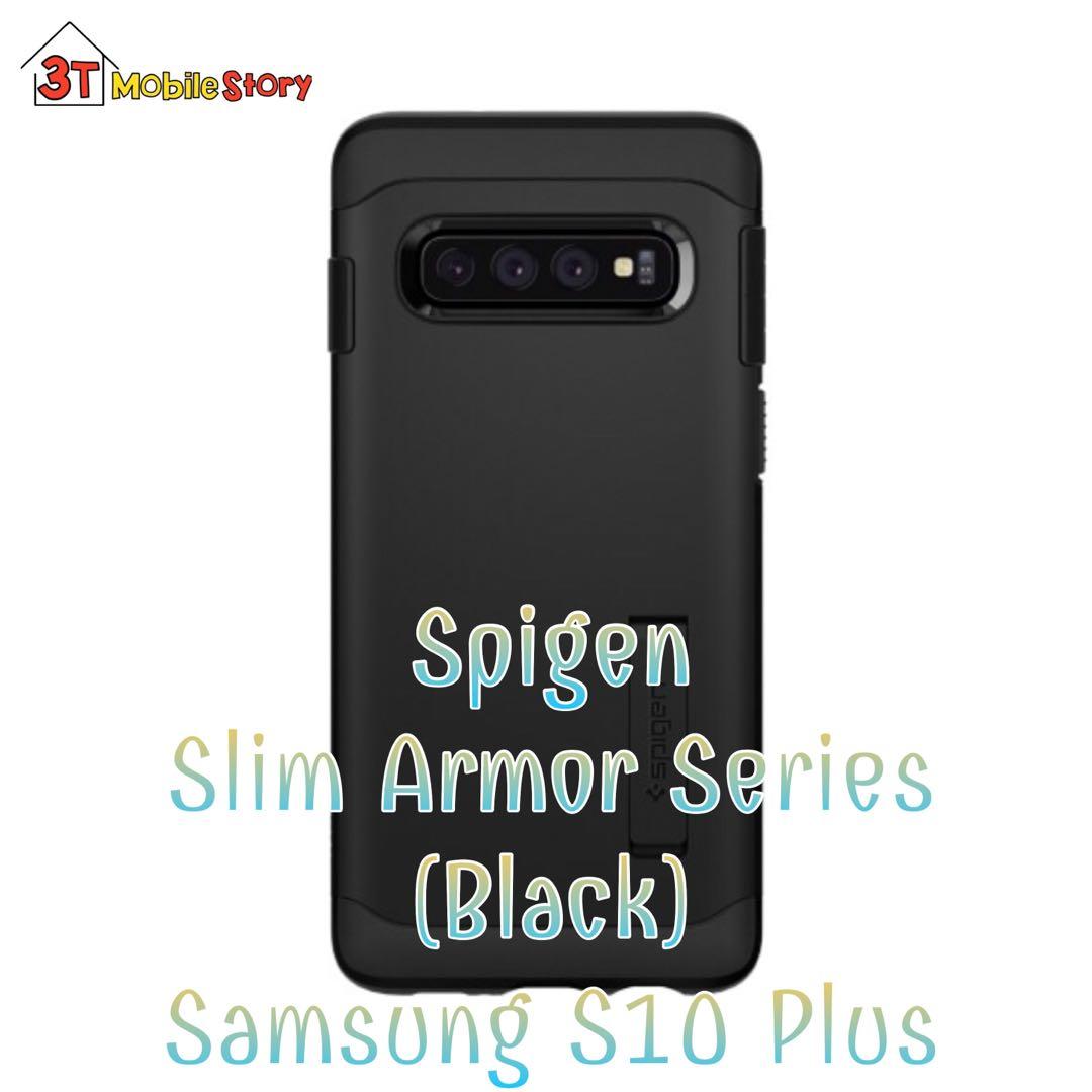 on sale 94131 25e3e Spigen Slim Armor (Black) Samsung S10 Plus