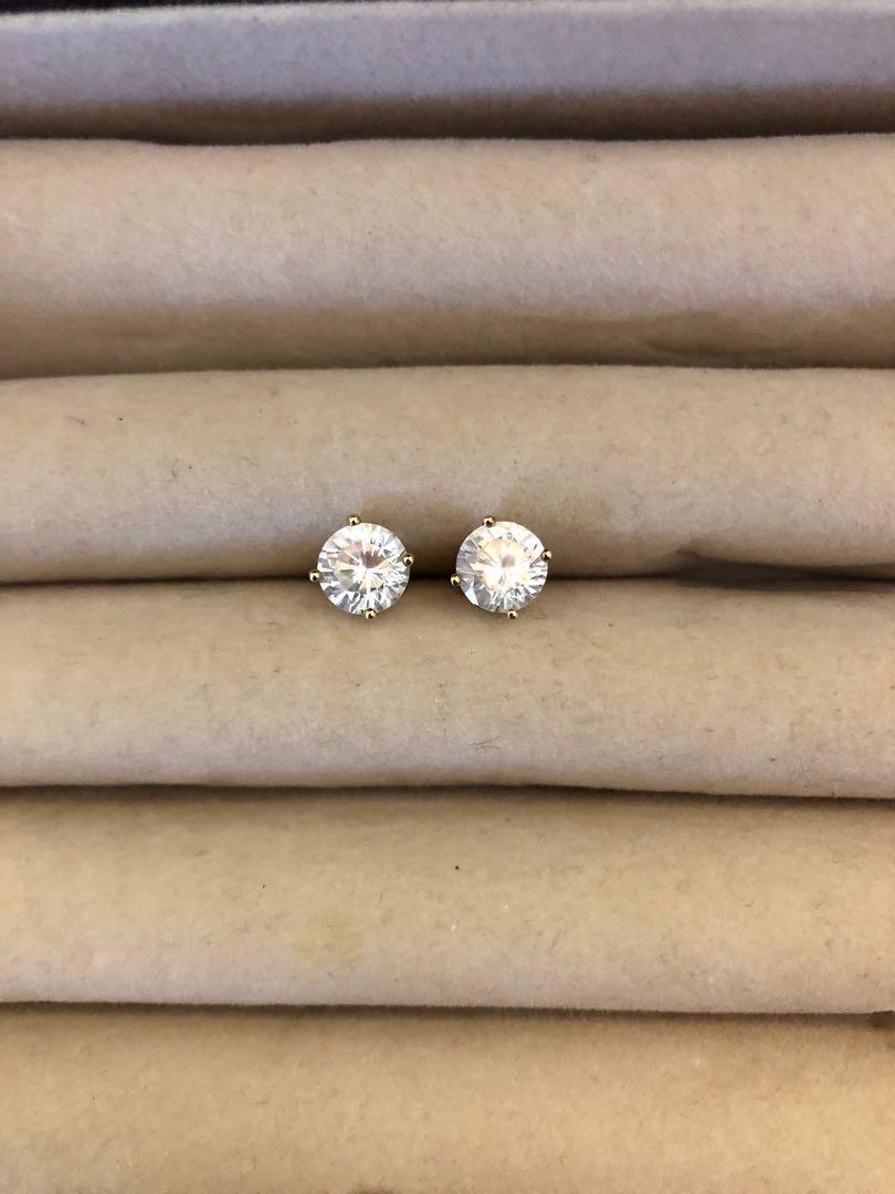Sterling Silver Crytsal Stud Earrings