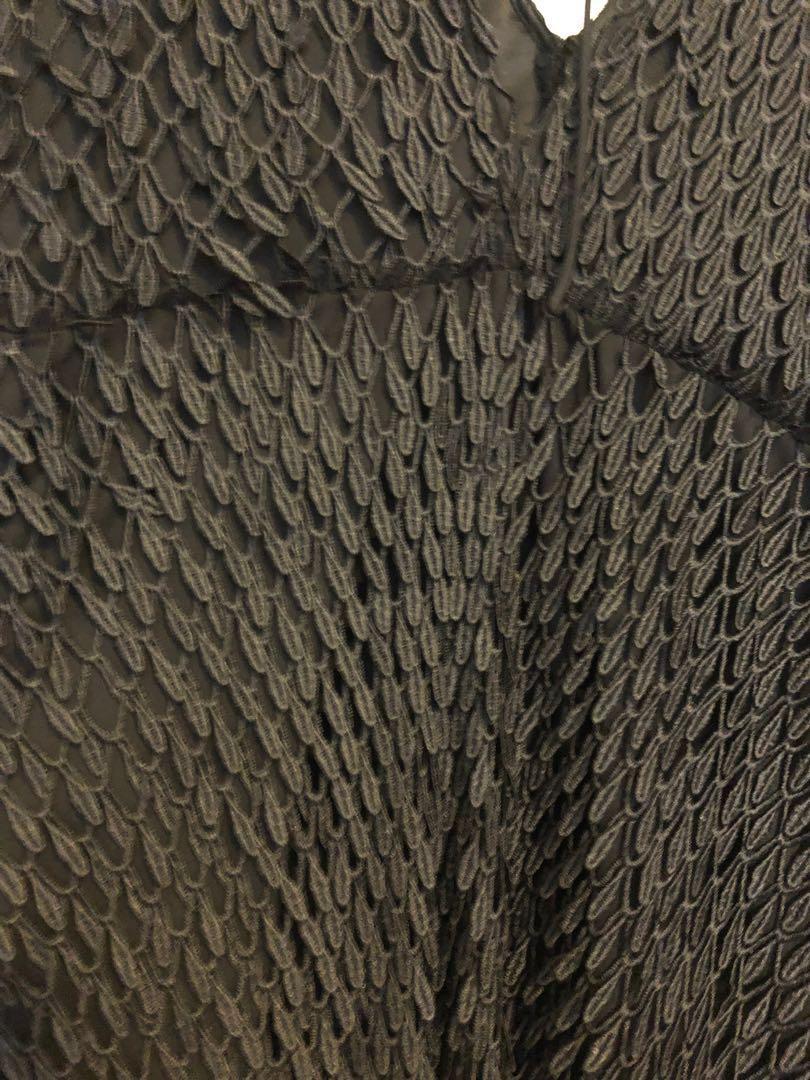 Stevie May Badlands black maxi dress rrp $380 Sz Small or 8-10