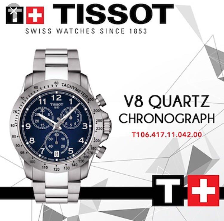 Tissot T Sport V8 Chronograph Blue Dial Watch T106 417 11