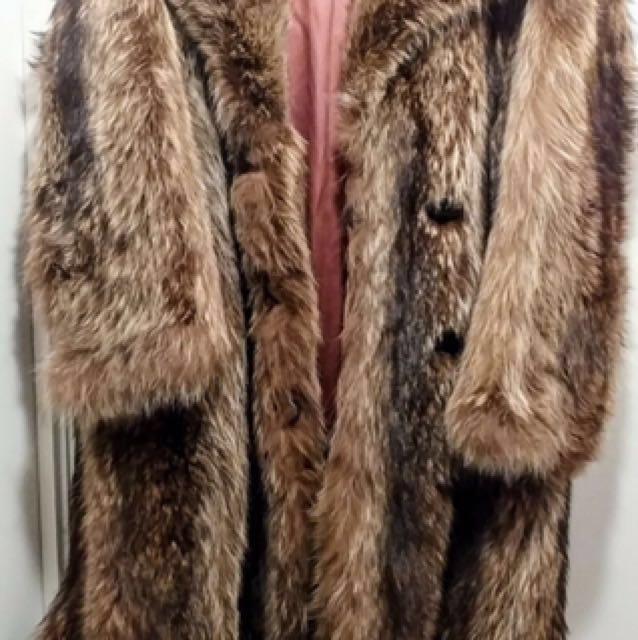 Vintage Fox Fur Full Length Coat