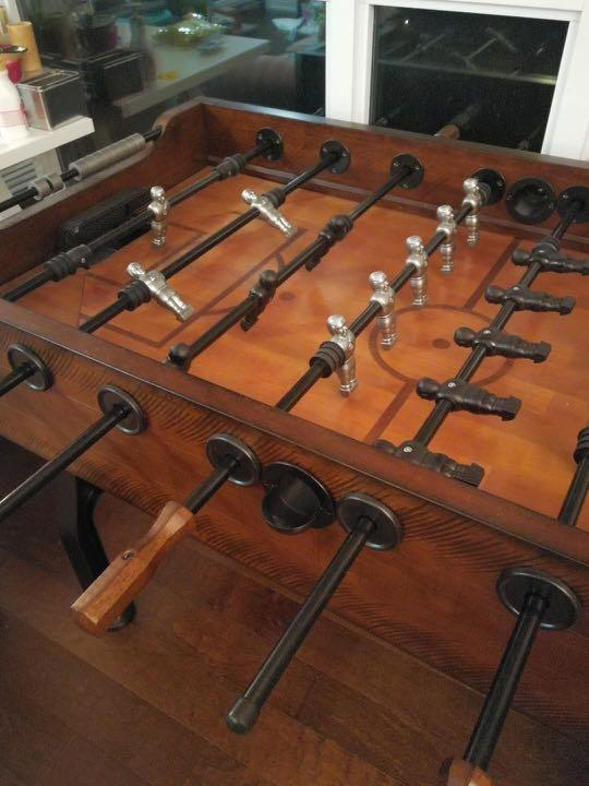 Vintage wooden foosball table! In excellent condition!