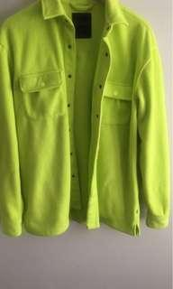 Simons neon green fleece