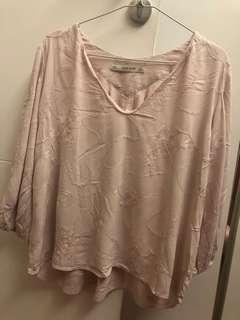 Zara soft pink top