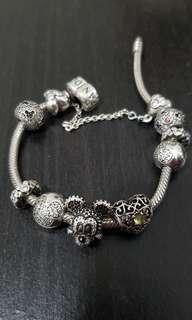 Pandora Bracelet with Mickey Mouse Charms (price reduced!!!)