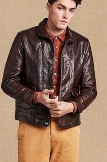 Levi's menlo cossack leather jacket LVC Lee