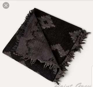 Aritzia Blanket Scarf (Black/Chalet)
