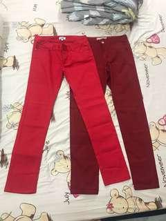 RED/MAROON Trousers