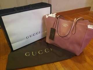 GUCCI Swing Leather Bag