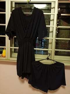 🚚 Navy blue kimono set