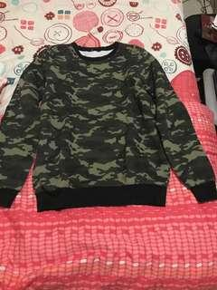 Crewneck sweater jays camo army militer