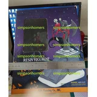 日本怪誔城之夜 Jun Planning Nightmare Before Christmas Falling Santa Jack 1999 Resin Figurine Limited Edition Disney
