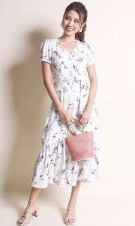 Neonmello Emiko Victorian Buttoned Floral Maxi Dress